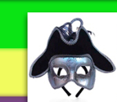 Deluxe Silver Pirate Venetian Masquerade Mask