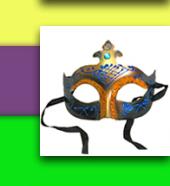 Blue & Gold Shimmer Venetian Masquerade Mask