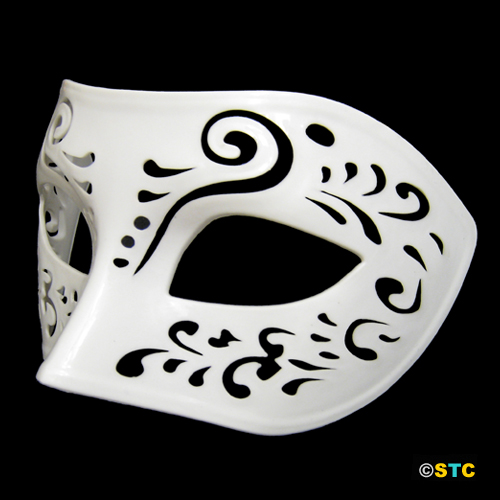 Dream Tale White Venetian Masquerade Mask