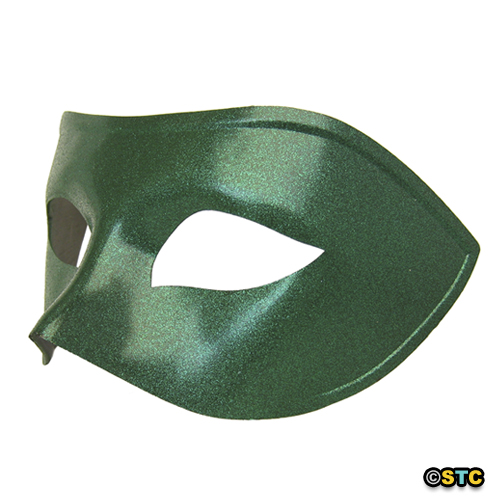 Green Venetian Masquerade Mask with Green Glitter