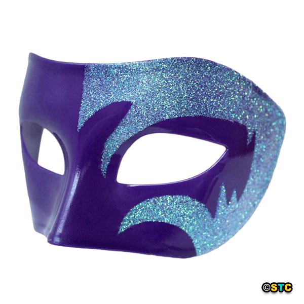 Mystic Holographic Glitter & Purple Venetian Masquerade Mask